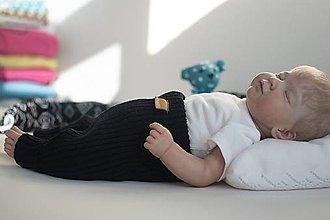 Detské oblečenie - Baby kamaše, veľ. 56-140, OEKO-TEX®, čierne - 13635049_