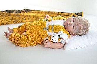 Detské oblečenie - Baby kamaše, veľ. 56-140, OEKO-TEX®, kurkumové - 13635136_