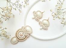 Sady šperkov - Bielo-zlatá elegancia - šujtášový set - 13635577_