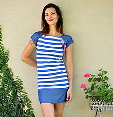 Šaty - Šaty Blue Stripes (S) - 13636703_