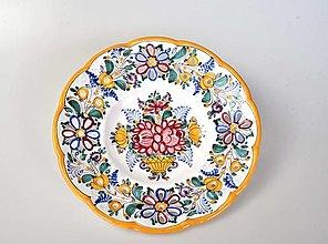 Nádoby - Tanier s vyrezávanými kvetmi, menší - 13638792_