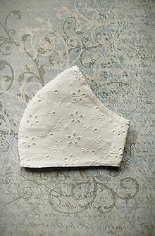 Rúška - Madeirové, antibakteriálne biele rúško - 13639108_