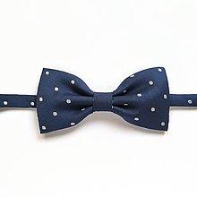 Doplnky - Motýlik modrý bodkovaný - 13638737_