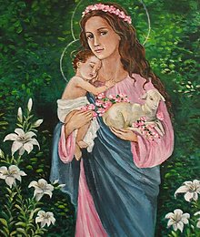 Obrazy - Panna Mária s Ježiškom - 13639558_