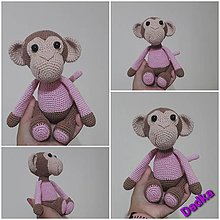 Hračky - Hačkovaná opička 💝 - 13639313_