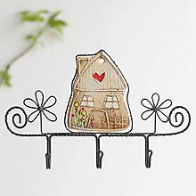 Nábytok - vešiak s domčekom - 13642086_