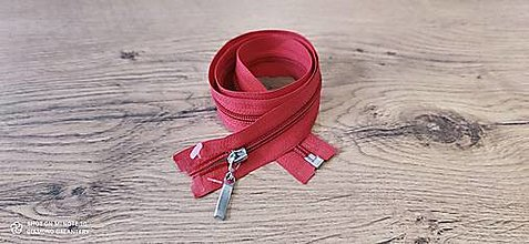 Galantéria - Zips deliteľný 70 cm (Červená) - 13640186_