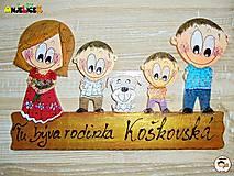 Tabuľky - Menovka - rodinka - 13641930_