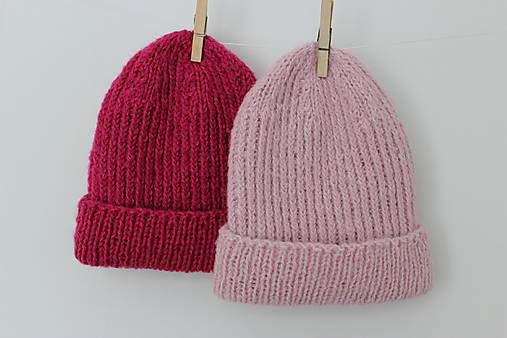 Čiapky - Čepice Kesi v růžové pudrové - 13640459_