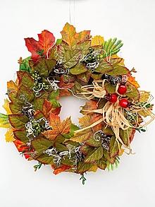 Dekorácie - Jesenný veniec- jesenné lístie - 13640198_