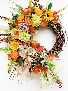 Dekorácie - Jesenný veniec- zlatistá jeseň - 13640203_