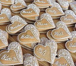 Darčeky pre svadobčanov - Medovníková menovka Monika - 13644222_