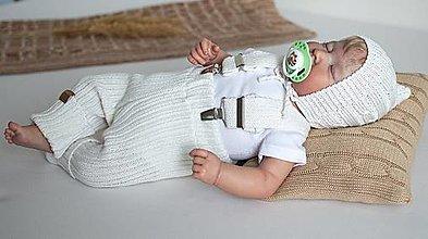 Detské oblečenie - Baby kamaše, veľ. 56-140, OEKO-TEX®, smotanové - 13643260_