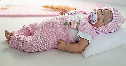 Detské oblečenie - Baby kamaše, veľ. 56-140, OEKO-TEX®, bledoružové - 13643295_