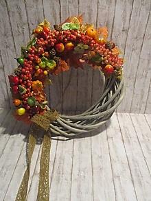 Dekorácie - Jesenný venček - 13645319_