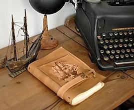 Papiernictvo - kožený midori zápisník SAILOR - 13643420_