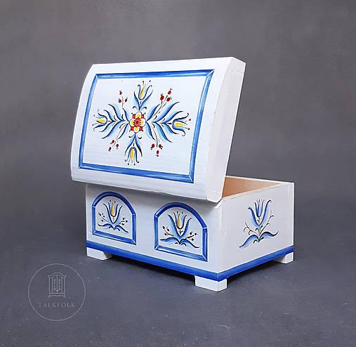 Maľovaná miniaúrna svadobná truhlička  (rôzne veľkosti)