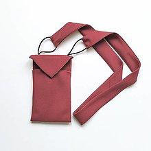 Kabelky - Upcy-cross-body taška (bordová) - 13643984_