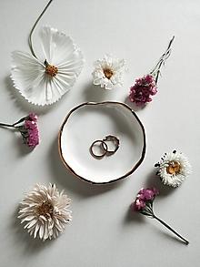 Prstene - Biela elegancia - 13645241_
