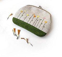 Peňaženky - Peňaženka XL Kvietky žlté (s kapsičkou) - 13642927_