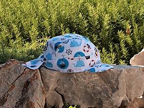Detské čiapky - Letný detský šilt námorník - 13648206_