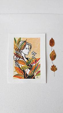 Obrázky - Rozlúčka s motýĺom, 18 x 24 cm, akvarel - 13647571_