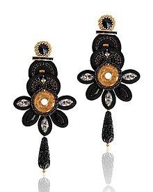 Náušnice - Šujtášové šujtášové náušnice Frida kvety - 13646923_
