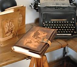 Papiernictvo - kožený midori zápisník SAOGAL - 13646371_