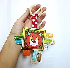 Hračky - Hryzátko veverička - 13646128_