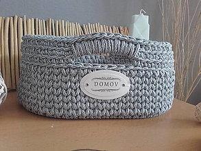 Košíky - Košík ovalny DOMOV s pevným dnom - 13647697_