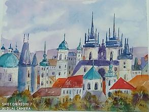 Obrazy - Praha /1, akv., 30x24 - 13647994_