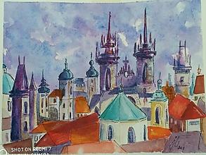 Obrazy - Praha /2, akv., 30x24 - 13648003_