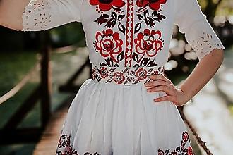 Opasky - opasok Zámutovské kvety - 13646321_