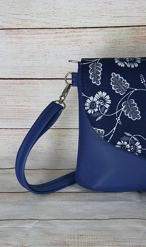modrotlačová kabelka Petra modrá 5