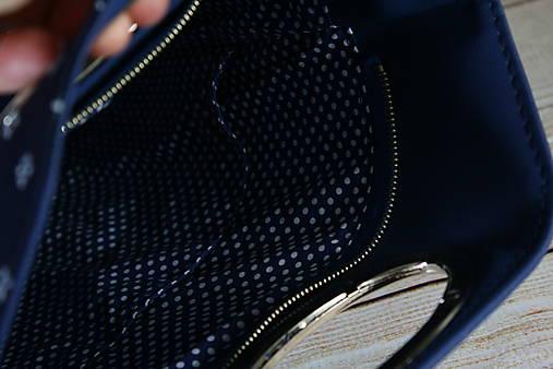 modrotlačová kabelka Elen modrá 1