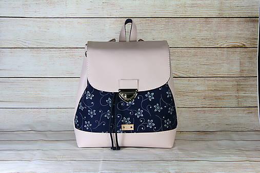 modrotlačový batoh Martin ružový 3