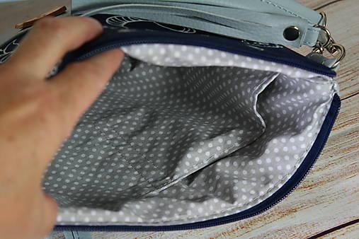 modrotlačová kabelka Lea maxi bledomodrá AM 1