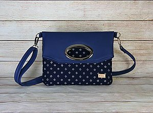 Kabelky - modrotlačová kabelka Elen modrá 1 - 13648261_