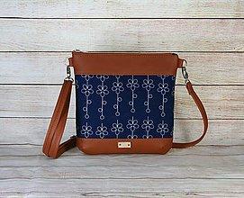 Kabelky - modrotlačová kabelka Dara hrdzavá 2 - 13648265_