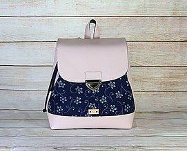 Batohy - modrotlačový batoh Martin ružový 3 - 13648276_