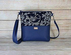 Kabelky - modrotlačová kabelka Dara modrá AM 5 - 13648294_