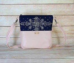 Kabelky - modrotlačová kabelka Dara ružová AM 3 - 13648302_