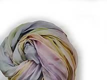 """Šály - """"pastel symphony"""" hodvábny šál (pléd, štóla) SKLADOM - 13646714_"""