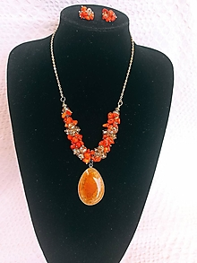 Sady šperkov - Sada šperkov/Koral, Achát - 13649938_