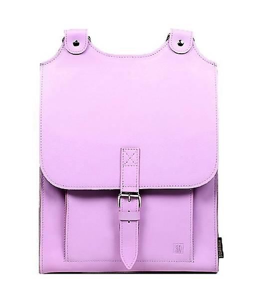 Batohy - Kožený batoh růžový - 13650604_