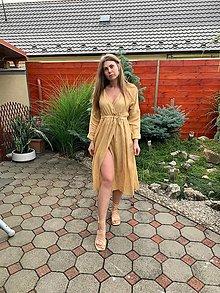 Šaty - Ľahké ľanové šaty - 13650842_