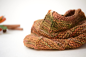 Šály a nákrčníky - Nákrčník dámsky ROBUST, oranžovo-zelený, 100% merino - 13649491_