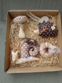 Dekorácie - Jesenné šite ozdoby - 13650113_