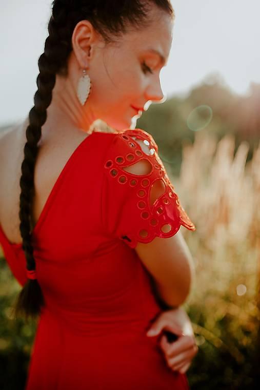 červené mini šaty Slavianka