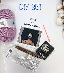 Návody a literatúra - DIY set - čelenka Marina s brošňou - 13651507_